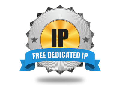 A free–of–charge Dedicated IP address